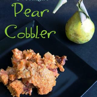 Overnight Pear Cobbler | ComfortablyDomestic.com