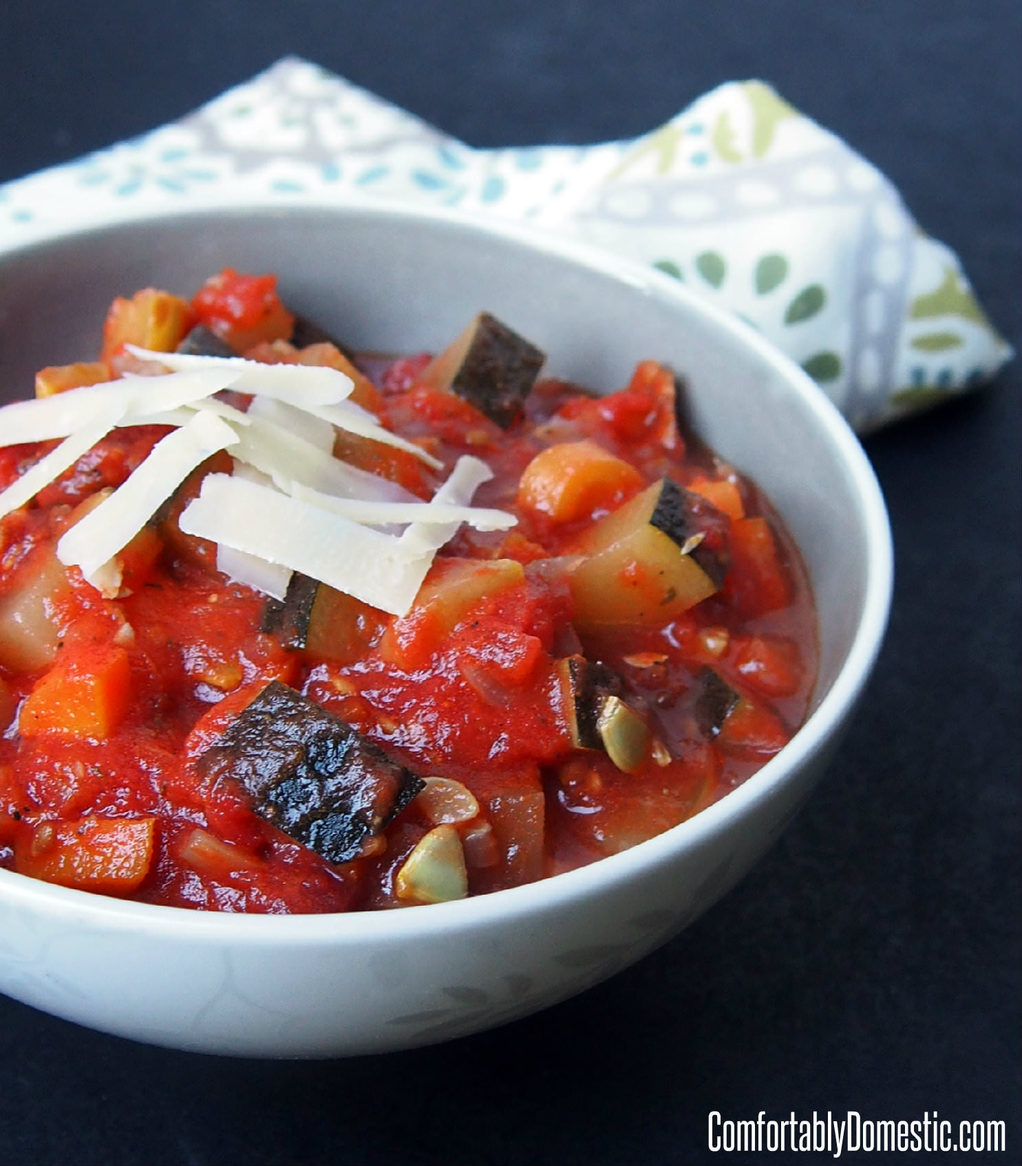 Homemade Ratatouille is a hearty, fresh vegetable stew, meant to nourish your body and warm your soul. | ComfortablyDomestic.com