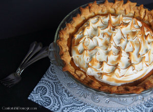 Maple Sweet Potato Pie with Toasted Swiss Meringue