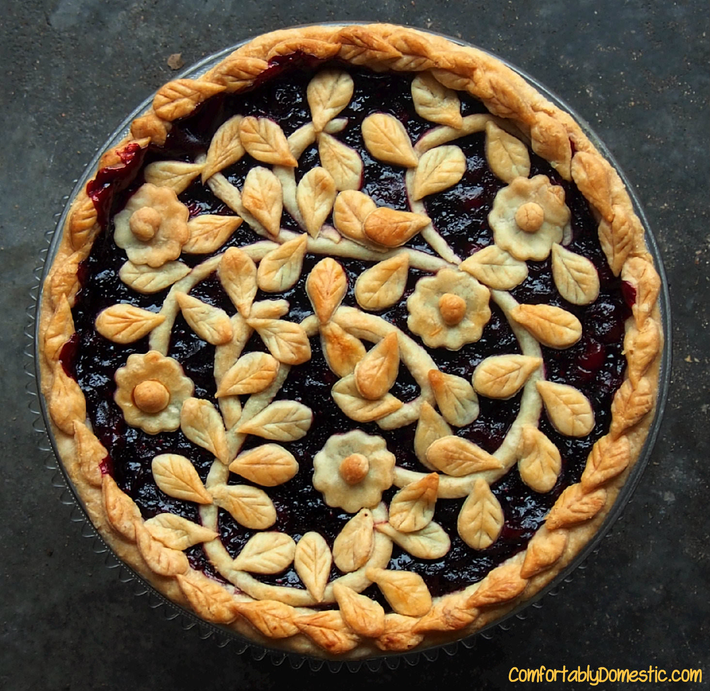 Very Berry Cherry Pie {Pie Week} - Comfortably Domestic