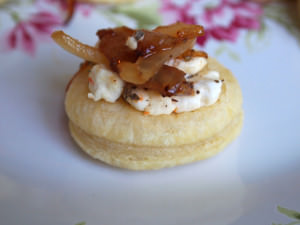 Caramelized Onion Goat Cheese Puffs