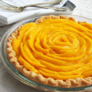 Mango Cream Pie from ComfortablyDomestic.com