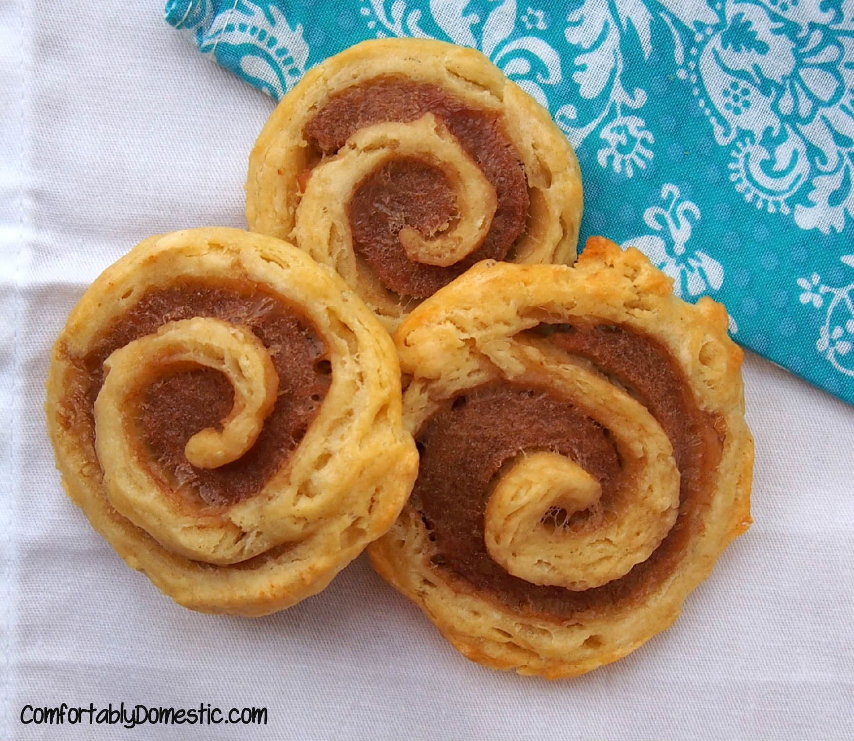 Sausage Biscuit Pinwheels from ComfortablyDomestic.com