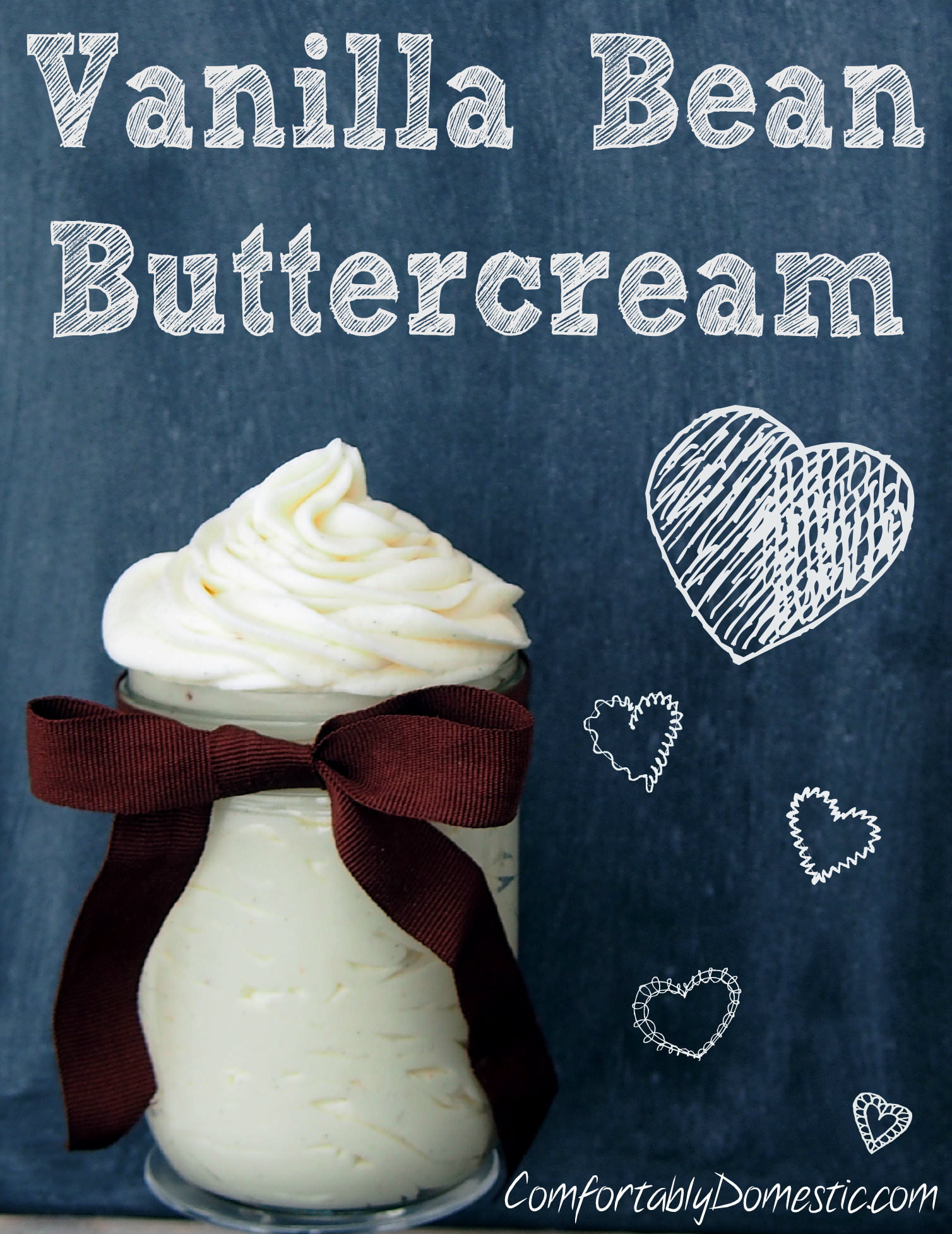 Vanilla bean buttercream frosting, soft and creamy, is anything but ordinary, thanks to the intense flavor of real vanilla bean caviar in the recipe. | ComfortablyDomestic.com