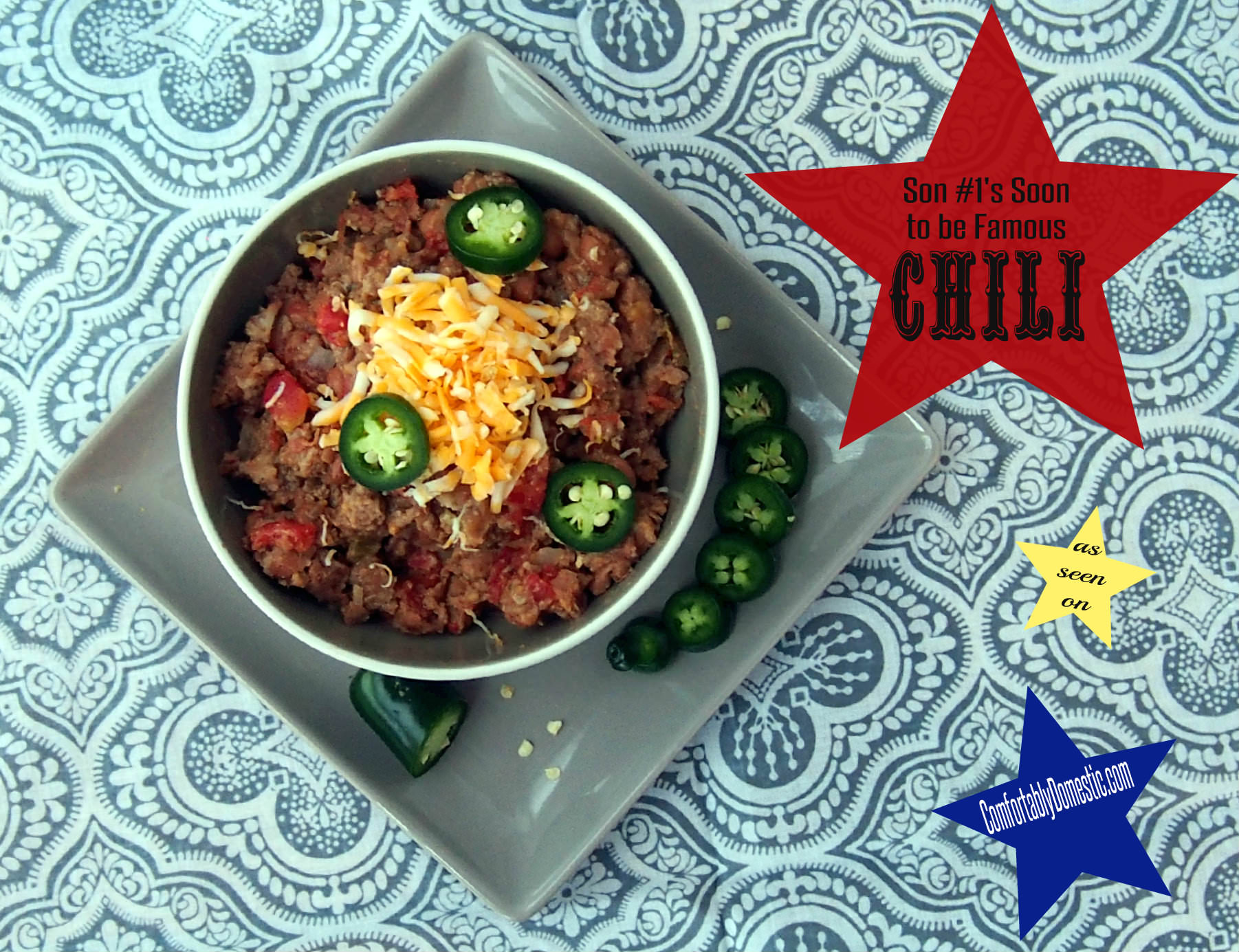 Son #1's Soon-to-be-Famous Chili Recipe | ComfortablyDomestic.com
