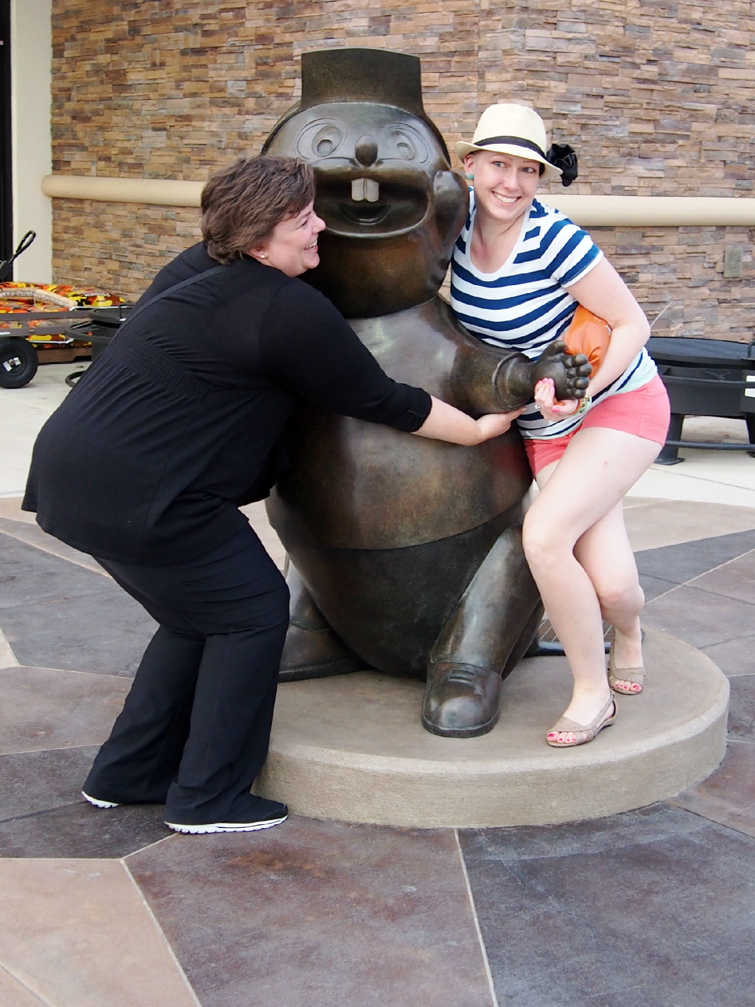 hugging the beaver