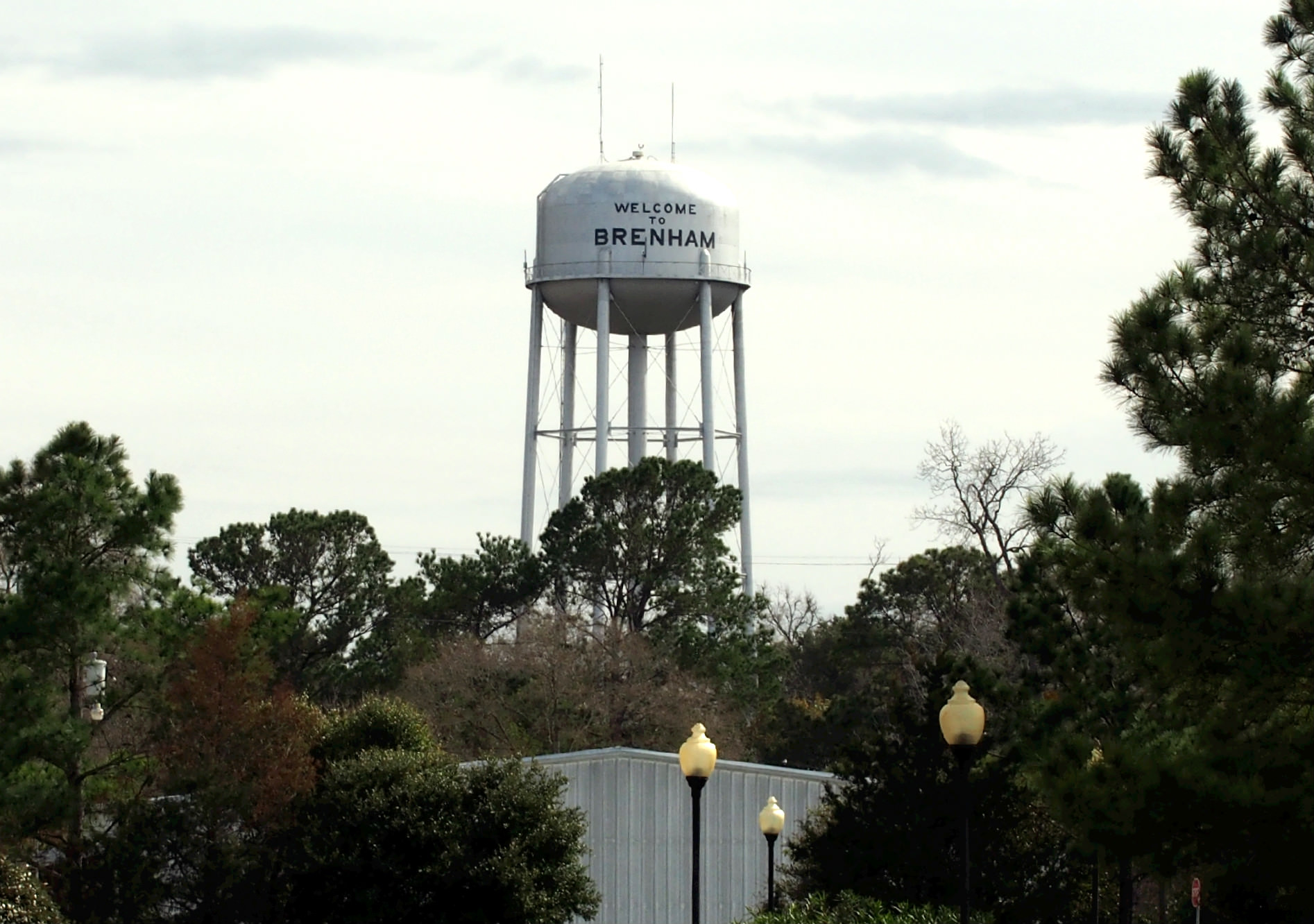 Water tower at Brenham, TX