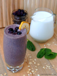 Blueberry Banana Smoothies {Healthy Recipe}