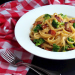 {Date Night} Broccoli Bacon Carbonara