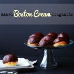 Baked Boston Cream Doughnuts