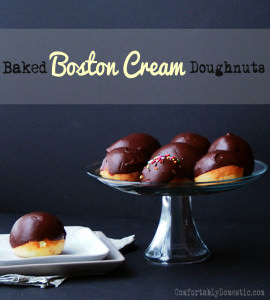 Baked Boston Cream Doughnuts