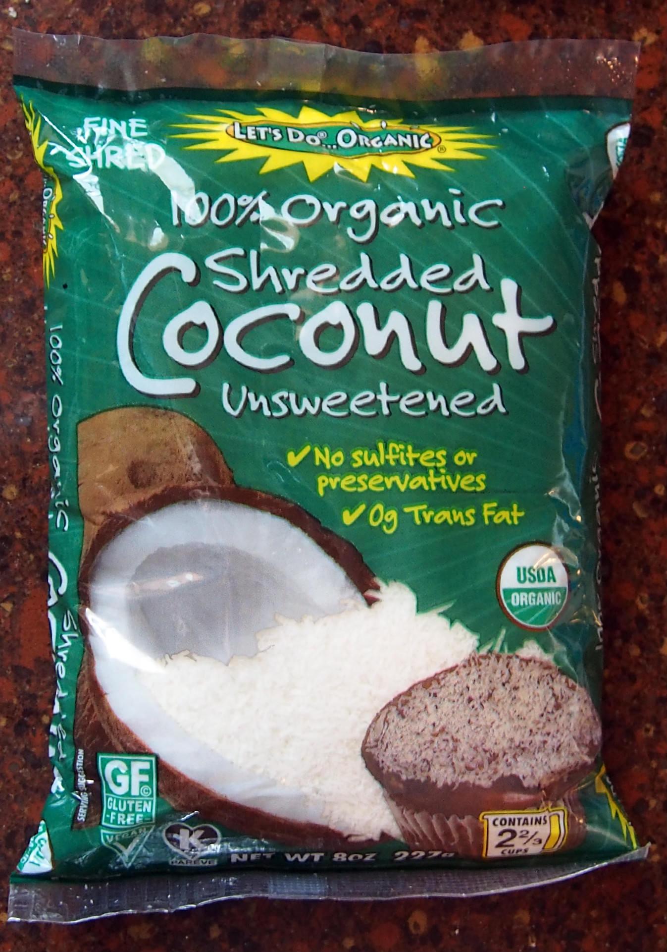 organic unsweetened coconut
