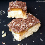 Samoa Bars with Salted Coconut Caramel