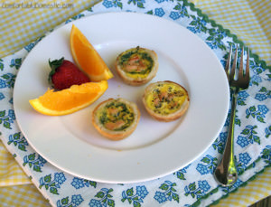 Smoked Salmon Quiche Bites