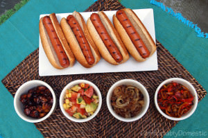 Homemade Grilled Meat and Hot Dog Condiments