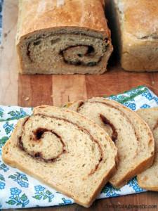 No Knead Cinnamon Swirl Oat Bread