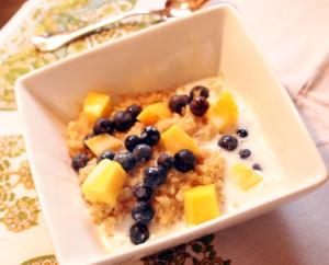 Blueberry-Mango Breakfast Quinoa