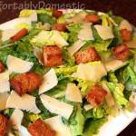 Simple Caesar Salad with Egg-Free Caesar Dressing