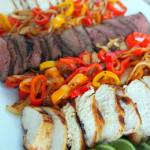 Grilled Chicken Fajitas or Steak Fajitas