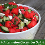 Watermelon Cucumber Salad with Feta, Lime, and Mint is an Indispensable Summer Recipe