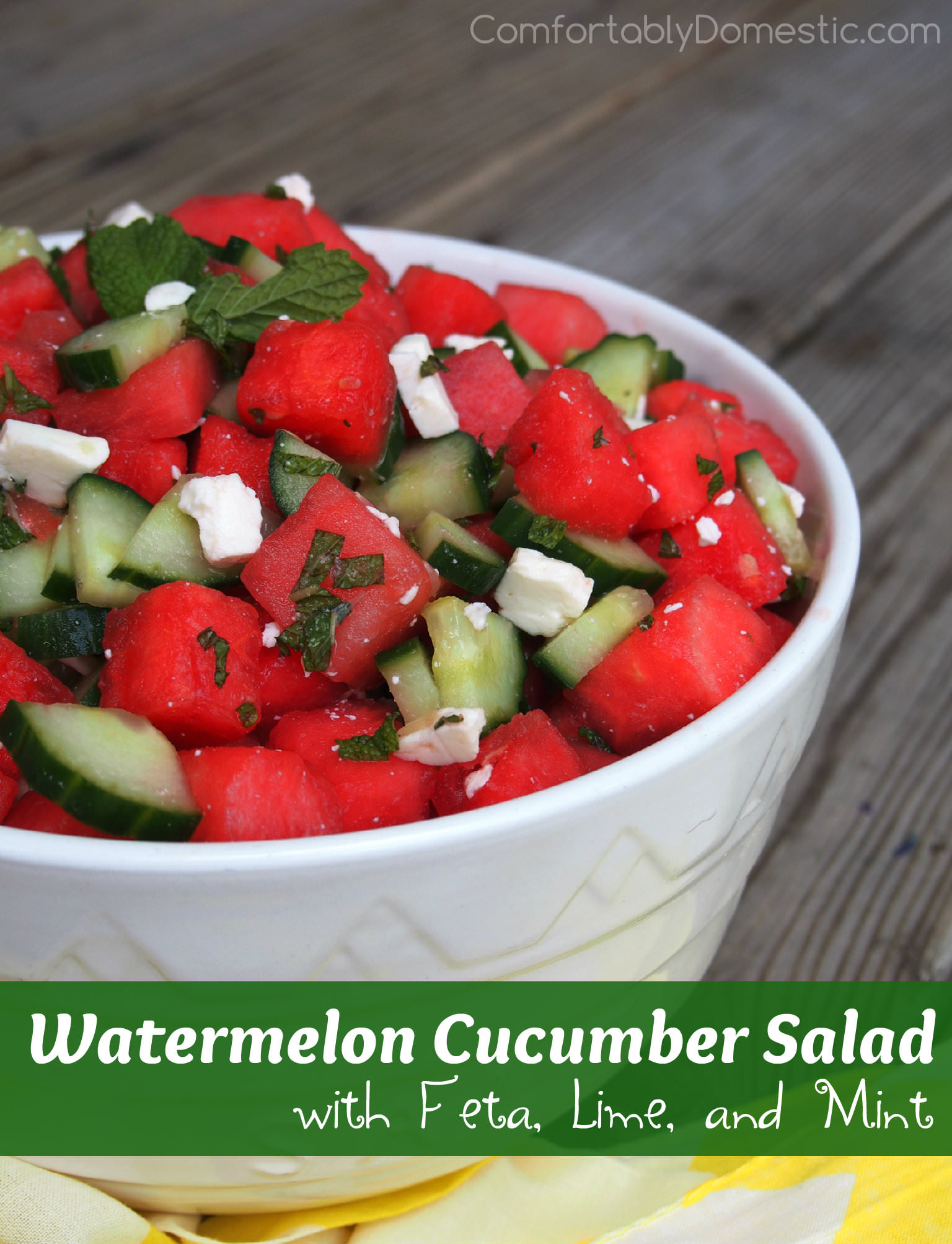 watermelon cucumber salad with feta lime and mint comfortably domestic. Black Bedroom Furniture Sets. Home Design Ideas