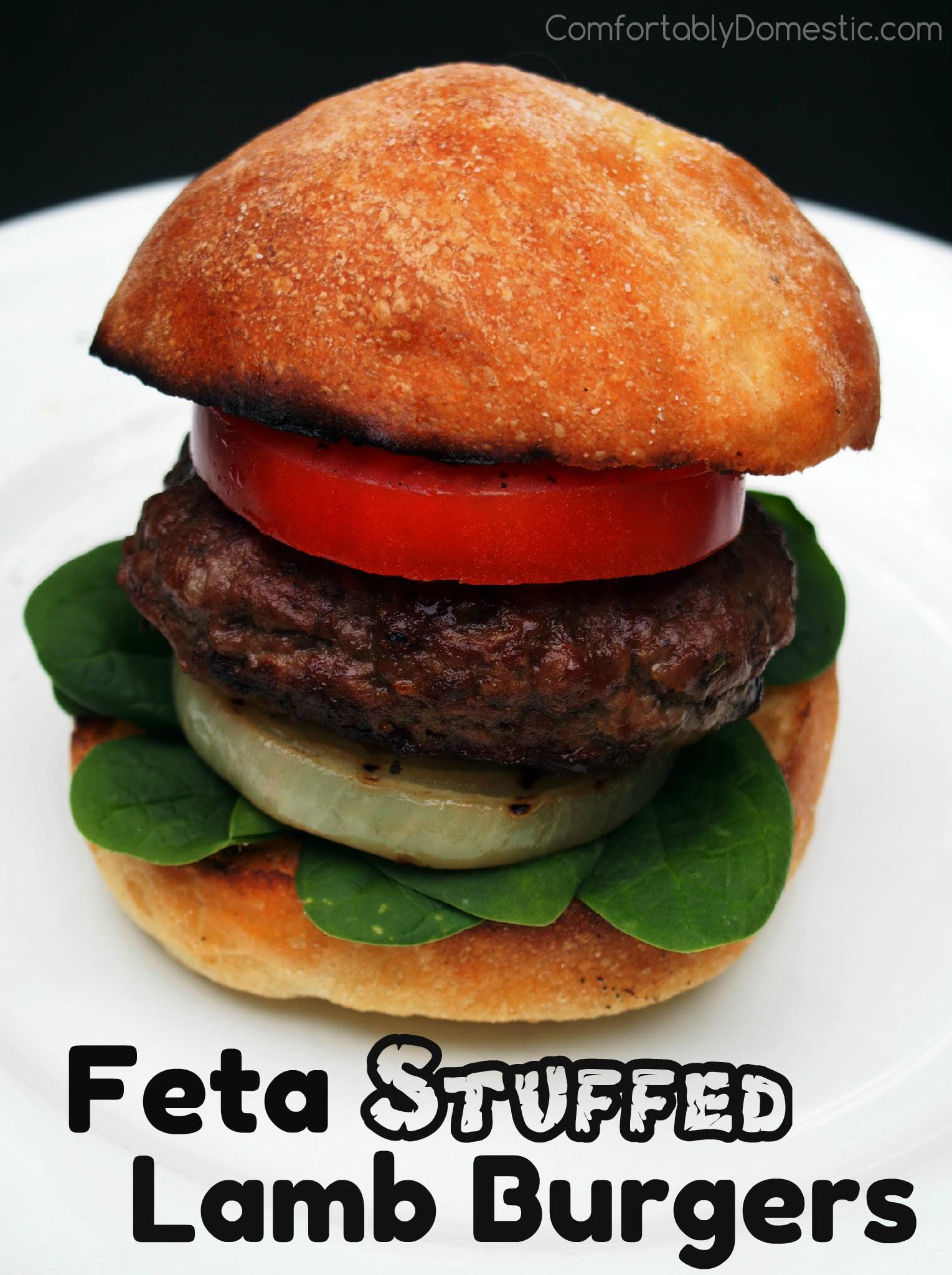 ... , but Feta Stuffed Lamb Burgers definitely deserve to be savored