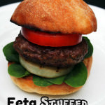 """The Perfect Burger"" – Feta Stuffed Lamb Burgers with Grilled Sweet Onion Steaks"