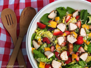 Strawberry Mango Salad with Strawberry Poppyseed Vinaigrette