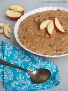 Slow Cooker Apple Cinnamon Steel Cut Oats – A Better Breakfast Recipe for Back to School