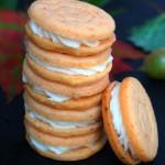 Pumpkin Spice Shortbread Sandwich Cookies