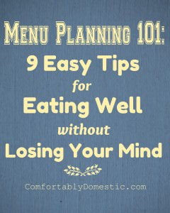 Menu Planning 101: The Key To My Sanity