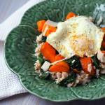 Spinach Sweet Potato Savory Oats