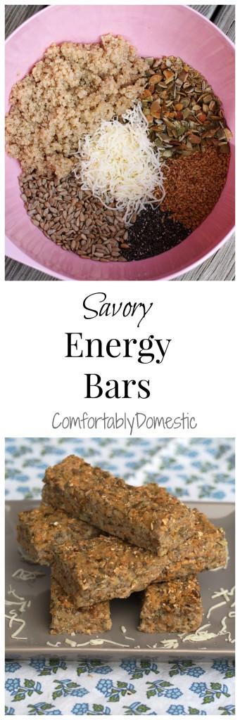Savory Energy Bars | ComfortablyDomestic.com