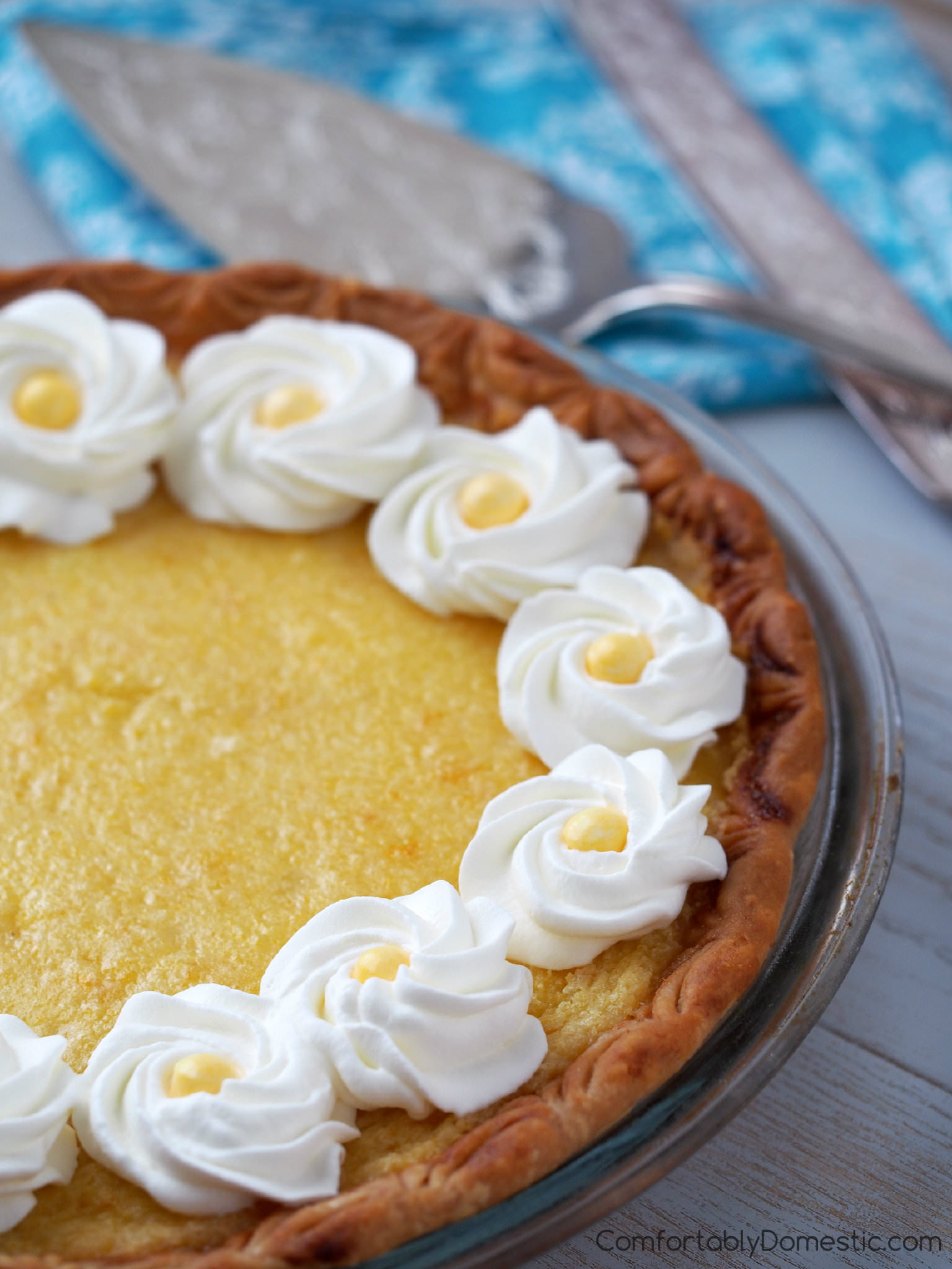 Lemon chess pie is a remarkably simple custard pie with deep Southern roots and plenty of lemony sass. | ComfortablyDomestic.com