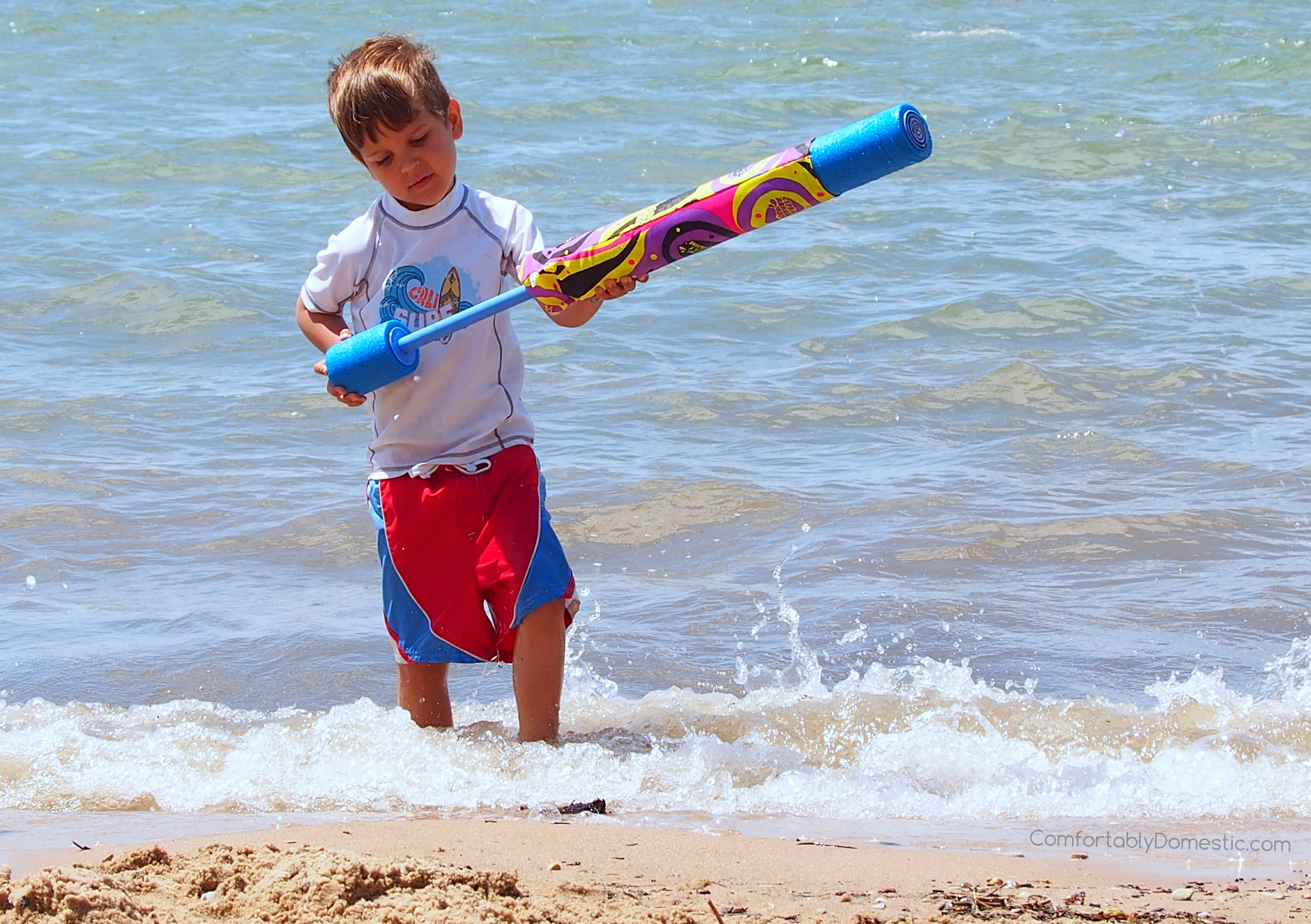 son #4 beach day