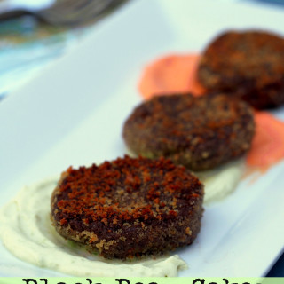 Black-Bean-Cakes-with-Fire-Roasted-Red-Pepper-and-Jalapeno-Cream-Sauces | ComfortablyDomestic.com