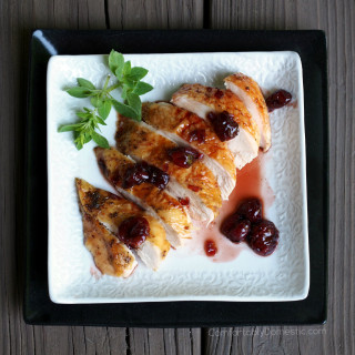 Easy-Roast-Chicken-with-Tart-Cherry-Balsamic-Glaze | ComfortablyDomestic.com