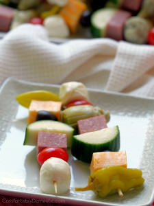 Antipasto Salad Skewers