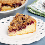 "Gluten-Free-Blueberry-Buckle-Coffee-Cake - Warm, moist cake supports a heavy load of blueberries, causing the center to ""buckle"" under the weight of juicy flavor. Topped with a crumbly streusel, Gluten Free Blueberry Buckle tastes as good as grandma used to make but with a modern twist of being made without wheat flour. 
