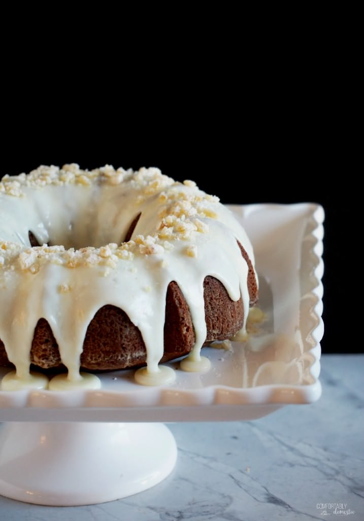 Gingerbread-Cake-with-Orange-Cream-Cheese-Glaze-and-Candied-Ginger | ComfortablyDomestic.com