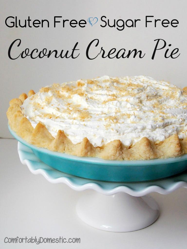 Gluten-Free-Sugar-Free-Coconut-Cream-Pie | ComfortablyDomestic.com