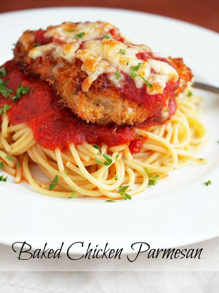 Baked-Chicken-Parmesan | ComfortablyDomestic.com