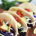 Roasted Black Bean Tacos