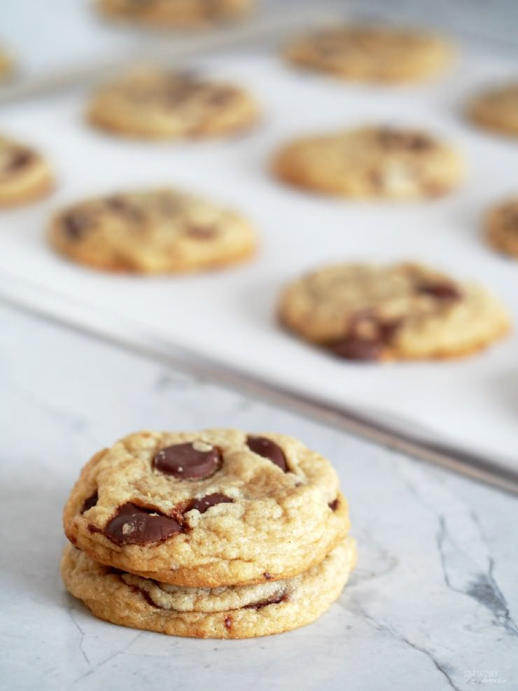 Soft-Chocolate-Chip-Cookies are loaded with gooey chocolate chips and stay nice and chewy in the cookie jar—although they don't last long!