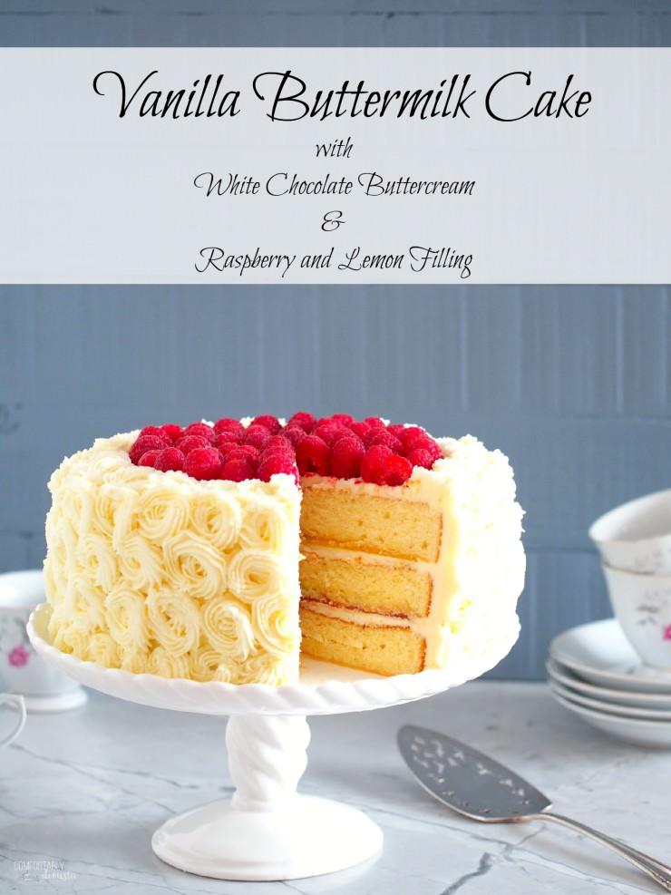 Vanilla Buttermilk Cake Comfortably Domestic