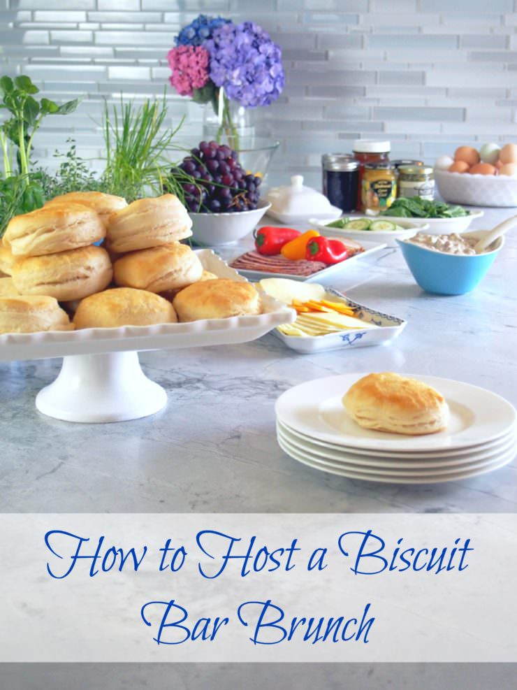 How-to-Host-a-Biscuit-Bar-Brunch for a fun and easy way to entertain for Mother's Day, baby showers, wedding showers, or anytime brunch!
