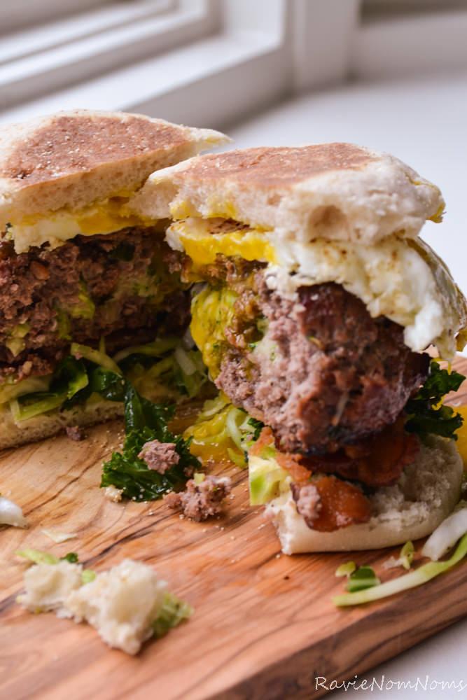 Broccoli-Cheddar-Stuffed-Breakfast-Burger