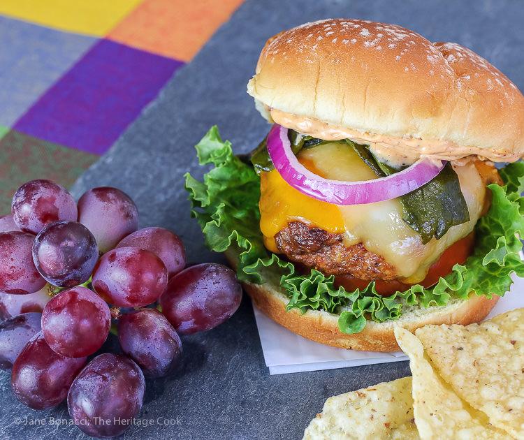 Chorizo-Poblano-Burgers