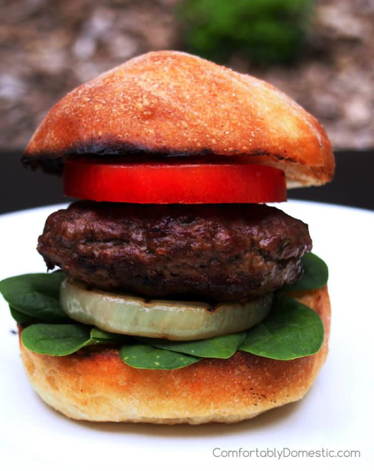 Feta-Stuffed-Lamb-Burgers-with-Grilled-Sweet-Onion-Steaks | ComfortablyDomestic.com