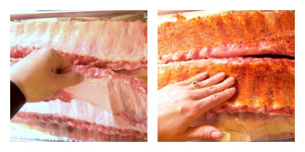 Removing-rib-membrane-from-baby-back-ribs